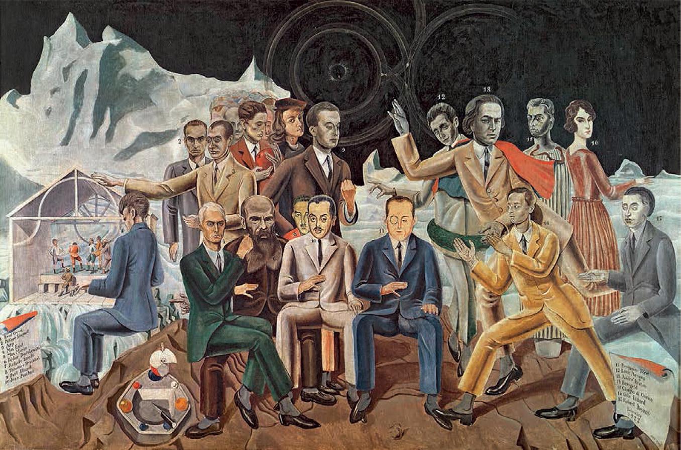 Au rendez-vous des amis Tableau de Max Ernst 1922