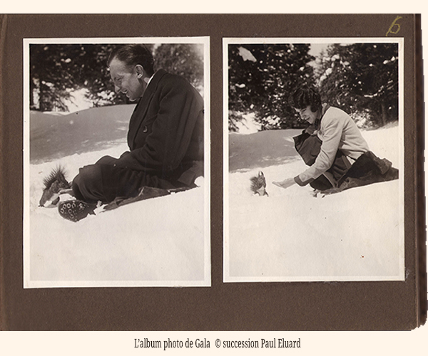 l'album de Gala &copy: succession Paul Eluard