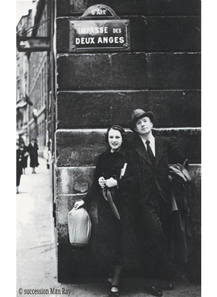 1936-Cecile-Eluard-Paul-Eluard-impasse-des-deux-anges©ManRay
