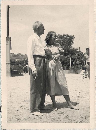 Cecile-Eluard-et-Paul-Eluard-1948-Golfe-Juan