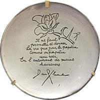 assiette Picasso Poeme Paul Eluard